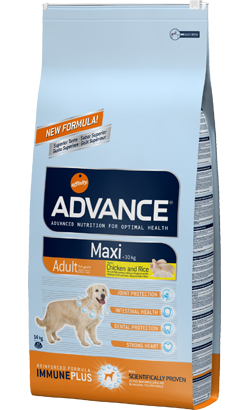 ADVANCE CÃO MAXI ADULT FRANGO E ARROZ 14KG-0