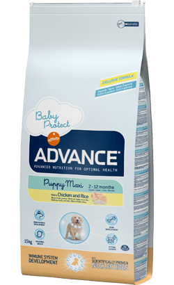 ADVANCE CÃO MAXI PUPPY FRANGO E ARROZ 12KG-0