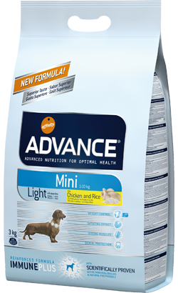 ADVANCE CÃO MINI LIGHT 3KG-0