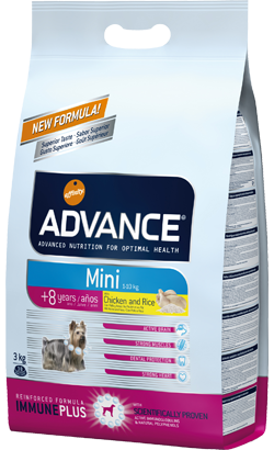 ADVANCE CÃO MINI SENIOR 3KG-0