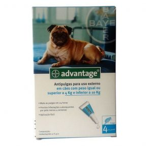 ADVANTAGE CÃO 100 - 4 A 10KG (4 PIPETAS)-0