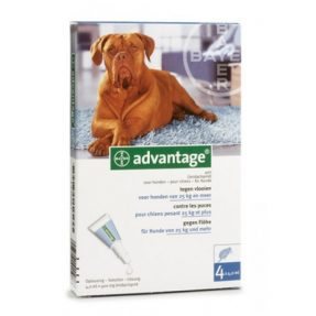 ADVANTAGE CÃO 400 - + 25KG (4 PIPETAS)-0