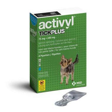 Activyl Tick Plus 75 mg + 240 mg - Cães (1,2 a 5 kg) (4 Pipetas)-0