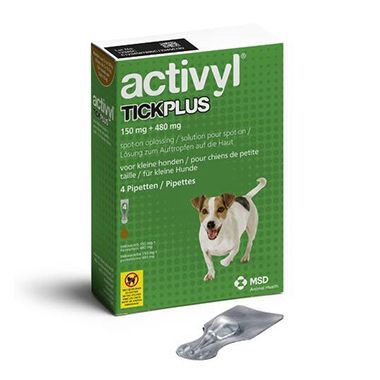 ACTIVYL TICK PLUS 150 MG + 480 MG - CÃES (5 A 10 KG) (4 PIPETAS)-0