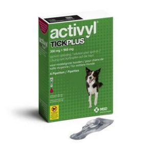 ACTIVYL TICK PLUS 300 MG + 690 MG - CÃES (10 A 20 KG) (4 PIPETAS)-0