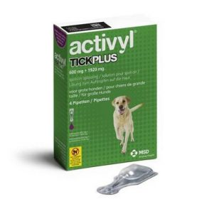 ACTIVYL TICK PLUS 600 MG + 1920 MG - CÃES (20 A 40 KG) (4 PIPETAS)-0