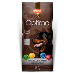 VISAN OPTIMA ADULTO LARGE BREED CHICKEN & RICE 15KG-0