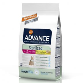 ADVANCE GATO STERILIZED +10 ANOS - 1,5KG-0
