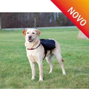 MOCHILA EM NYLON/NEOPRENO P/ CAO (PRETO)-0