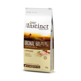 INSTINCT ORIGINAL FRANGO COM ARROZ INTEGRAL MEDIUM/MAXI - ADULT 12KG-0